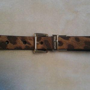 Michael Kors belt genuine leather animal print